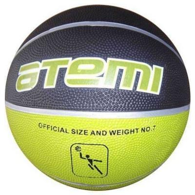 Мяч для баскетбола ATEMI BB11 Black/Light Green