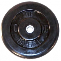 Диск обрезиненный 26mm 10kg MB-PltB26-10 MB Barbell
