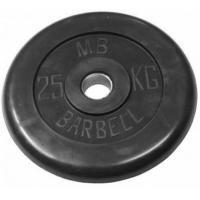 Диск обрезиненный 26mm 25kg MB-PltB26-25 MB Barbell