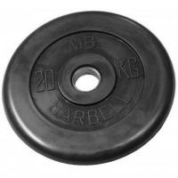 Диск обрезиненный 51mm 20kg MB-PltB51-20 MB Barbell