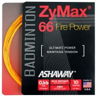 Струна для бадминтона Ashaway 10m Zymax Fire Power 66 Orange A14155