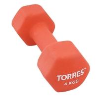 Гантель Неопрен 4kg PL55014 TORRES