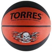 Мяч для баскетбола TORRES Game Over Black/Brown B0011