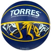 Мяч для баскетбола TORRES Jam Blue/Yellow B0004