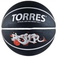 Мяч для баскетбола TORRES Prayer Black B00057