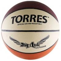 Мяч для баскетбола TORRES Slam Brown/White B0006