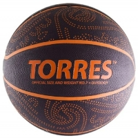 Мяч для баскетбола TORRES TT Black/Orange B00127