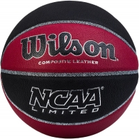 Мяч для баскетбола Wilson NCAA Limited BSKT BLMA Black/Red WTB06589XB07