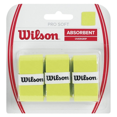 Овергрип Wilson Overgrip Pro Soft x3 Light Green WRZ4040LI