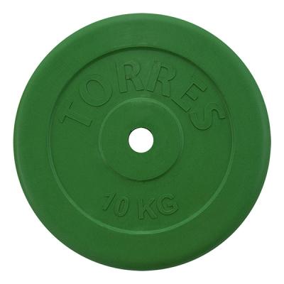 Диск обрезиненный 25mm 10kg Green PL504110 TORRES