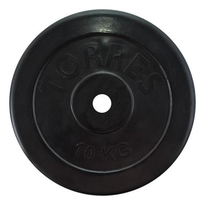Диск обрезиненный 25mm 10kg Black PL507110 TORRES