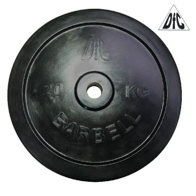 Диск обрезиненный 31mm 20kg Black WP021-31-20 DFC