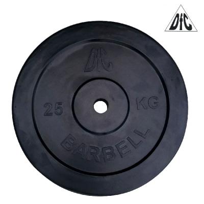 Диск обрезиненный 31mm 25kg Black WP021-31-25 DFC