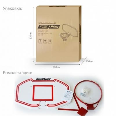 Баскетбольный щит Start Line Стритбольный 910x610mm пластик 30mm SLP-005