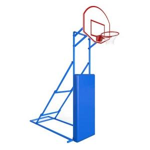 Стойка баскетбольная Мобильная 1200x900mm h2.60-3.05m r0.5m