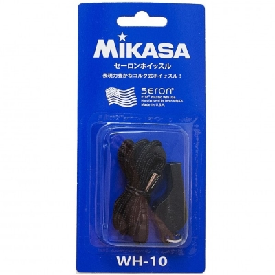 Свисток пластмассовый с шариком Black WH-10BK Mikasa