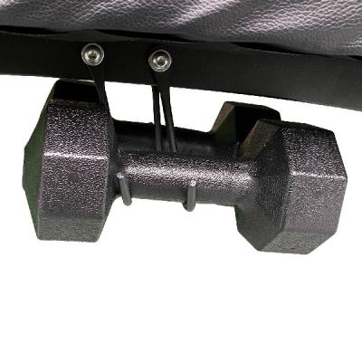 Скамья для пресса DFC D102RY c гантелями и эспадерами