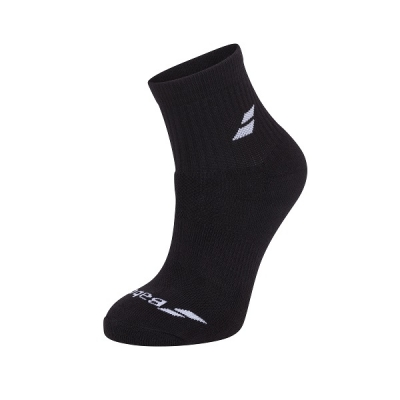 Носки спортивные Babolat Socks Quarter U x3 Black 5UA1401