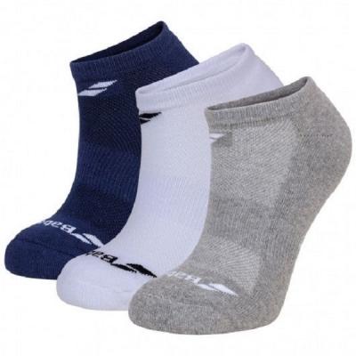 Носки спортивные Babolat Socks Junior Invisible x3 White/Blue/Gray 5JA1461