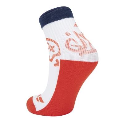 Носки спортивные Babolat Socks Junior B Graphic x1 White/Orange 5BA1451-1005