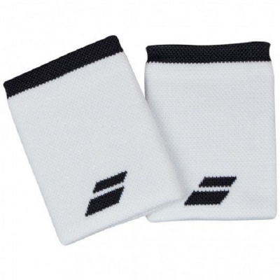 Напульсник Babolat Wristband Logo Jumbo x2 White/Dark Gray 5UA1262-1011