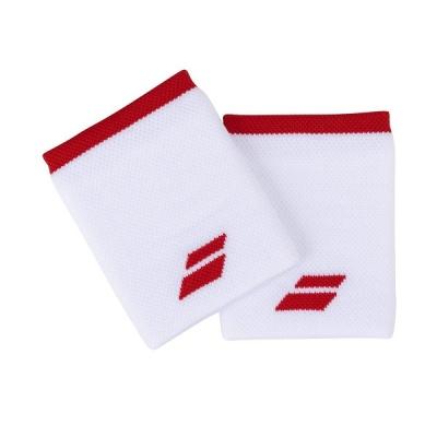 Напульсник Babolat Wristband Logo Jumbo x2 White/Red 5UA1262-1031