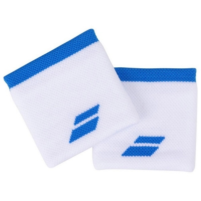 Напульсник Babolat Wristband Logo x2 White/Blue 5UA1261-1030