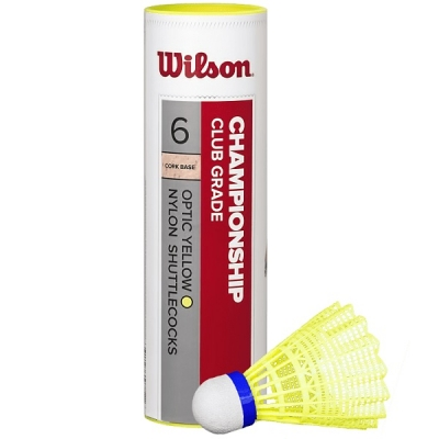 Воланы Wilson Championship x6 Yellow WRT6044YE