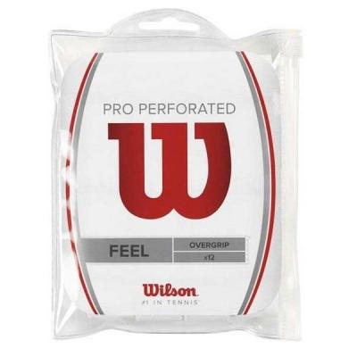 Обмотка для ручки Wilson Overgrip Pro Perforated x12 White WRZ4006WH