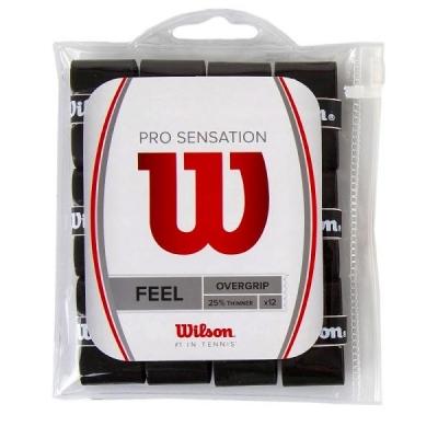 Обмотка для ручки Wilson Overgrip Pro Sensation x12 Black WRZ4011BK