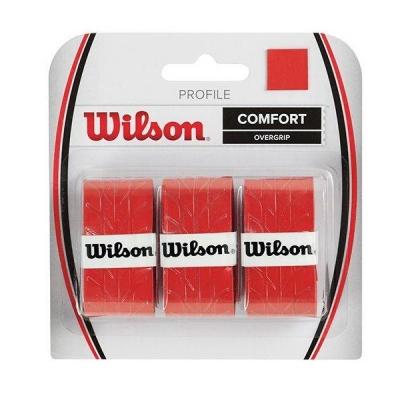 Обмотка для ручки Wilson Overgrip Profile x3 Red WRZ4025RD