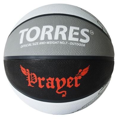Мяч для баскетбола TORRES Prayer Gray/Black B0205