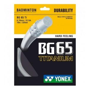 Струна для бадминтона Yonex 10m BG-65Ti White