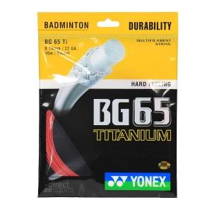 Струна для бадминтона Yonex 10m BG-65Ti Pink