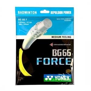 Струна для бадминтона Yonex 10m BG-66 Force Prepacked Yellow BG66F-2