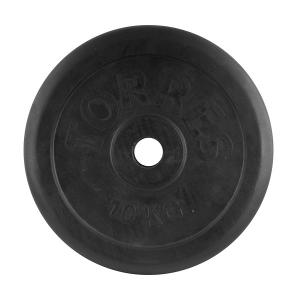 Диск обрезиненный 31mm 10kg Black PL506510 TORRES