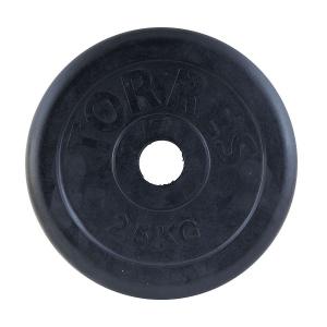 Диск обрезиненный 31mm 2.5kg Black PL50632 TORRES