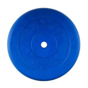 Диск обрезиненный 25mm 15kg Blue PL504215 TORRES