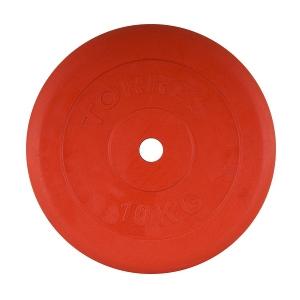 Диск обрезиненный 25mm 10kg Red PL504110 TORRES