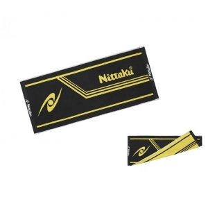 Полотенце Nittaku Line Mid 85x35 Black/Yellow
