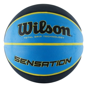 Мяч для баскетбола Wilson Sensation Black/Blue WTB9118XB0702