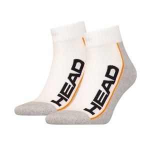 Носки спортивные Head Socks Stripe Tennis Quarter x2 White/Gray 811509
