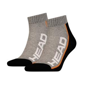 Носки спортивные Head Socks Stripe Tennis Quarter x2 Gray/Black 811509