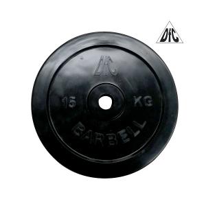 Диск обрезиненный 31mm 15kg Black WP021-31-15 DFC