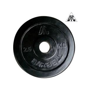 Диск обрезиненный 31mm 2.5kg Black WP021-31-2.5 DFC