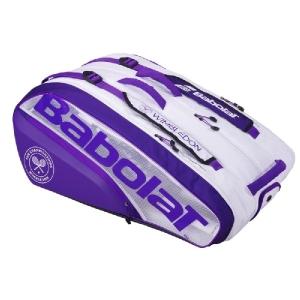 Чехол 10-12 ракеток Babolat Pure Wimbledon White/Purple 751205