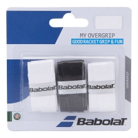 Обмотка для ручки Babolat Overgrip My Grip x3 White/Black 653045