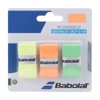 Обмотка для ручки Babolat Overgrip My Grip x3 Orange/Green/Yellow 653045