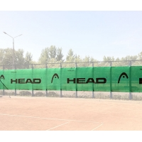 Ветрозащитный фон Logo 12x2m Green 289757 Head