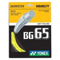Струна для бадминтона Yonex 10m BG-65 Prepacked Yellow